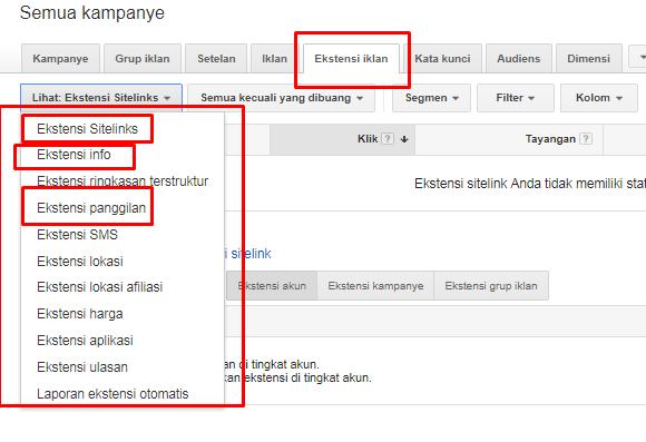 ektensi iklan google adwords